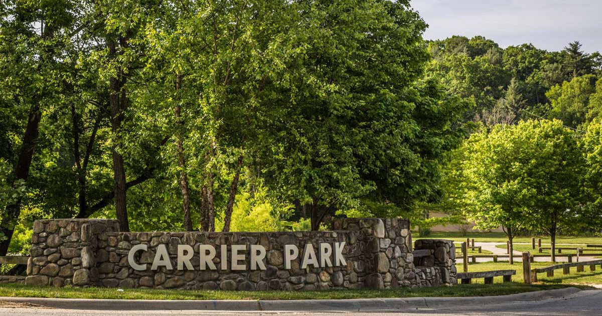 Carrier Park Entrance Sign