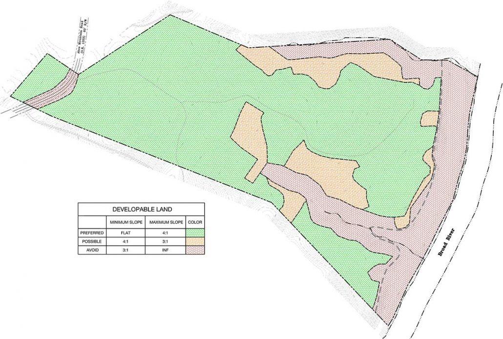 Crossroads Developable Land Analysis Plan